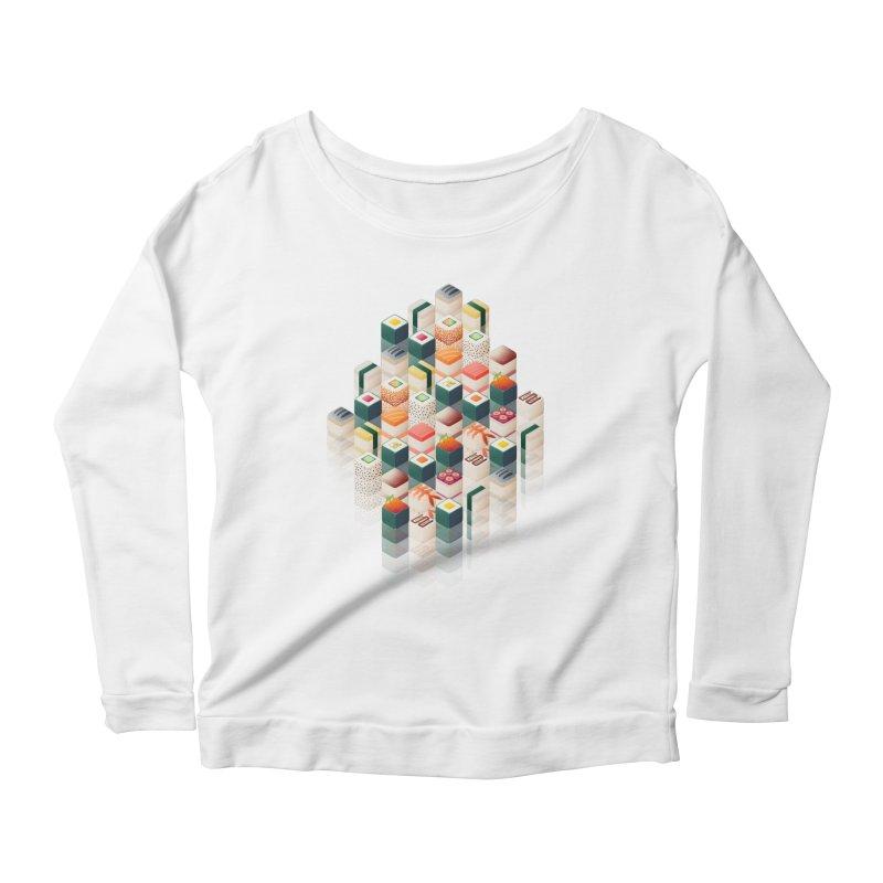 Maki Matrix Women's Scoop Neck Longsleeve T-Shirt by Bunny Robot Art