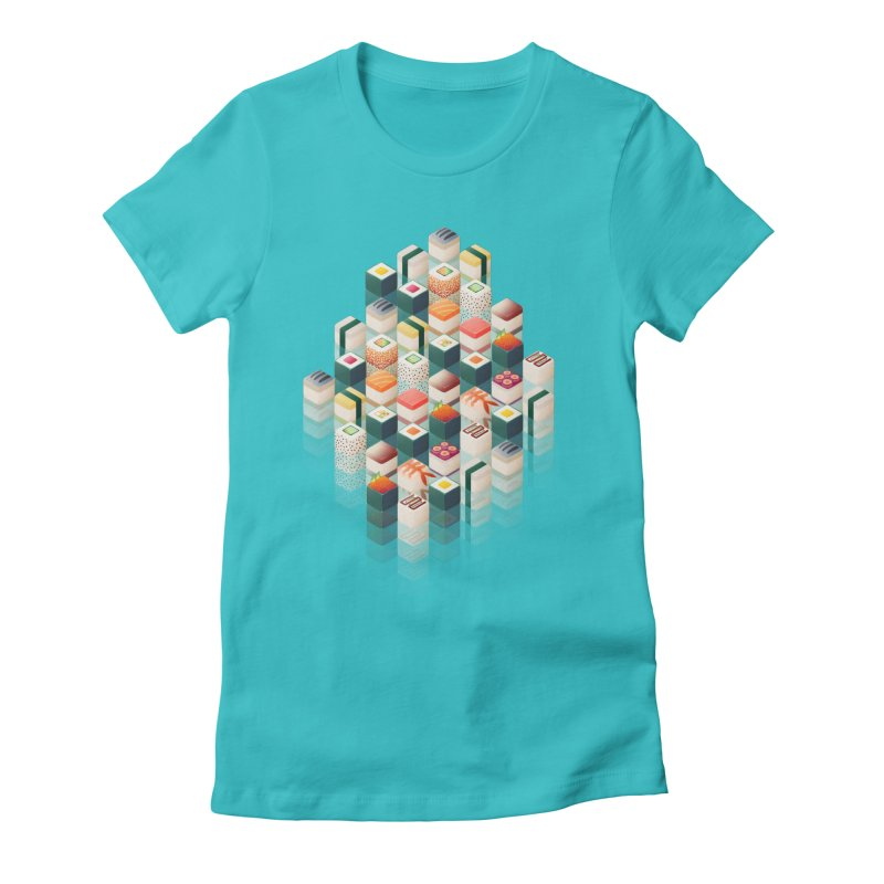 Maki Matrix Women's Fitted T-Shirt by Bunny Robot Art