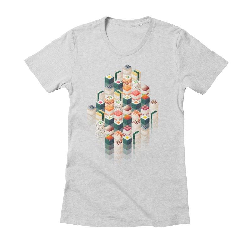 Maki Matrix Women's Fitted T-Shirt by Bunny Robot Art