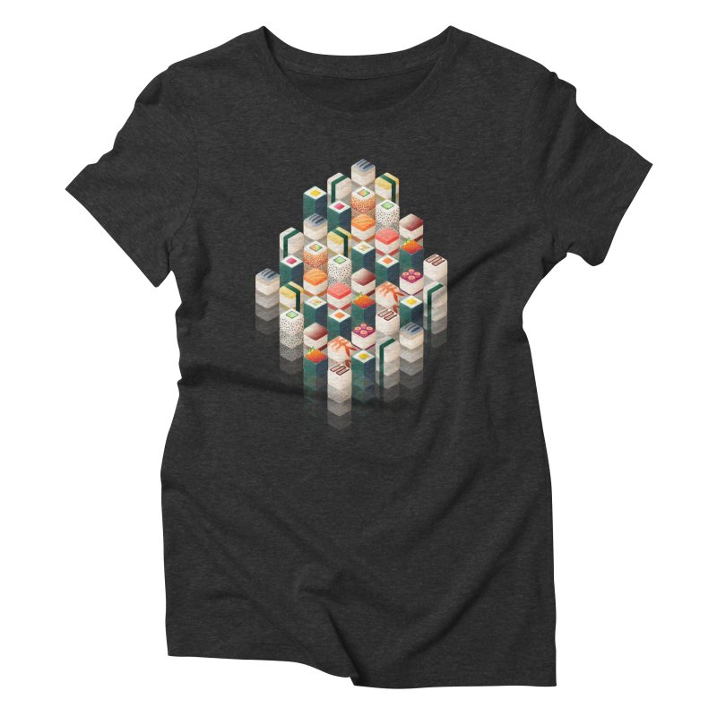 Maki Matrix Women's Triblend T-Shirt by Bunny Robot Art