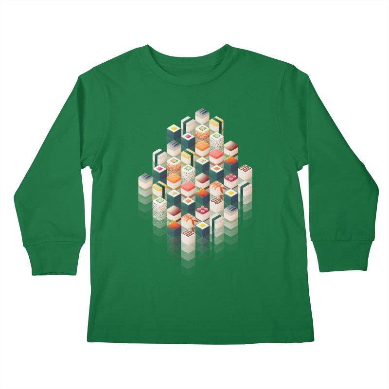 Maki Matrix Kids Longsleeve T-Shirt by Bunny Robot Art