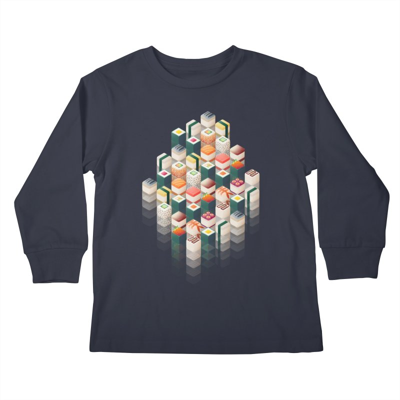 Maki Matrix Kids Longsleeve T-Shirt by Bunny Robot Art