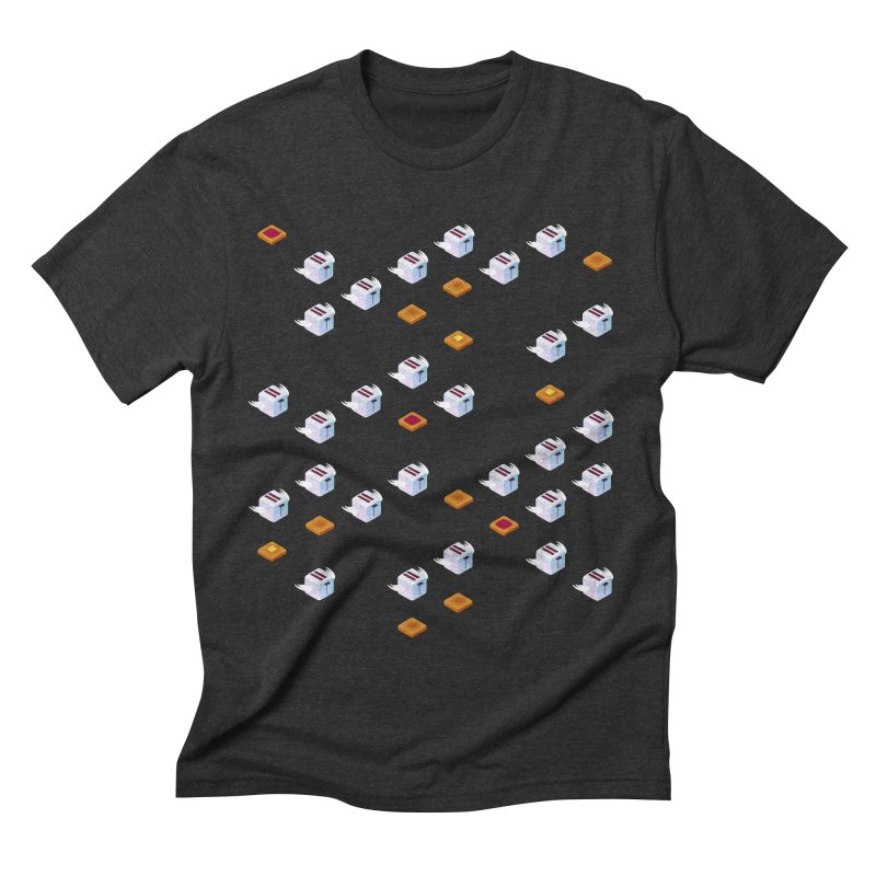Flying Toasters Men's Triblend T-shirt by Bunny Robot Art