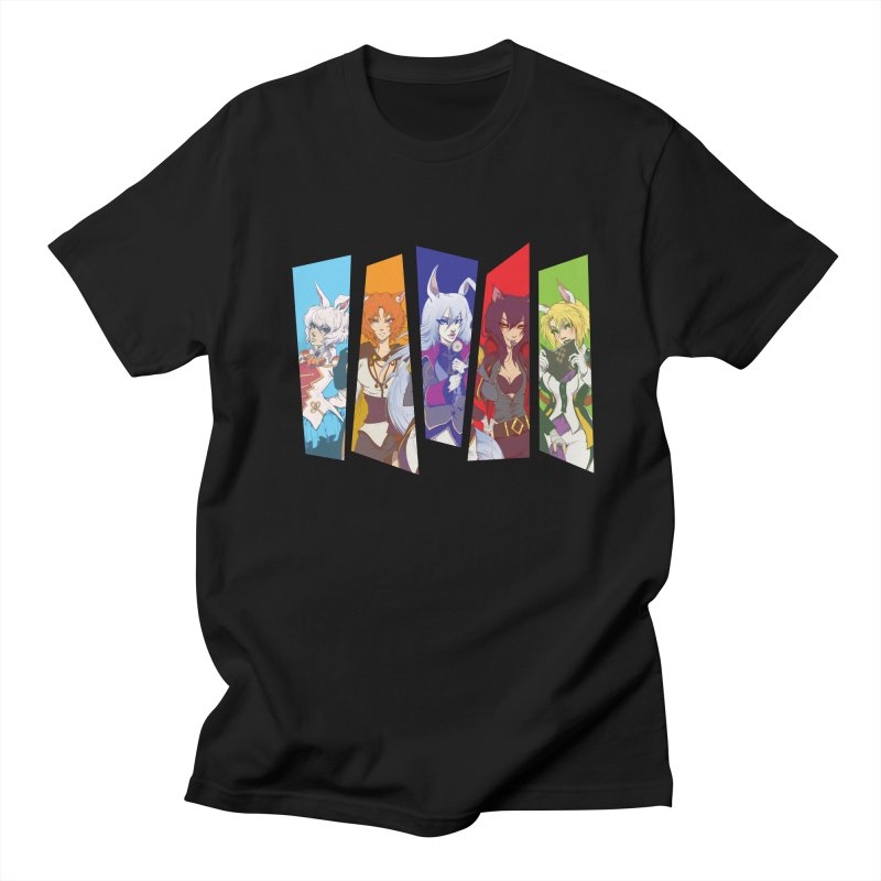 Cats and Rabbits Men's T-shirt by Bunny Robot Art