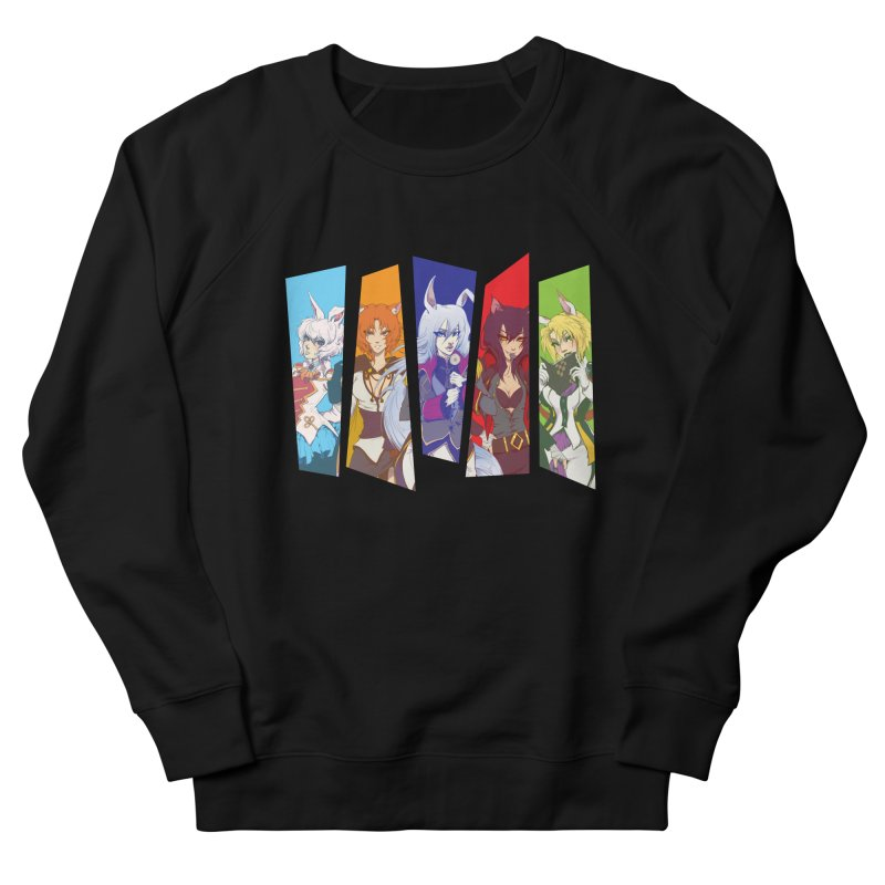 Cats and Rabbits Men's French Terry Sweatshirt by Bunny Robot Art