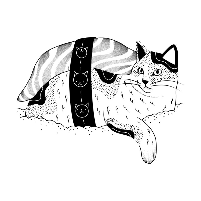 Sushi Cat Men's T-Shirt by burdturd's Artist Shop