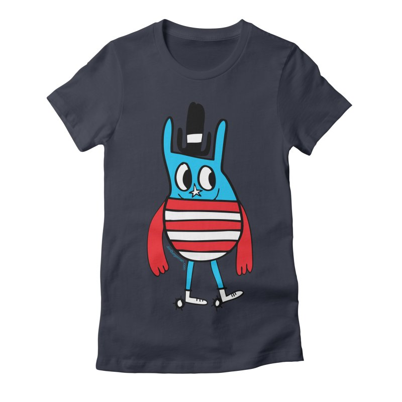 American Doodle Women's Fitted T-Shirt by Jon Burgerman's Artist Shop