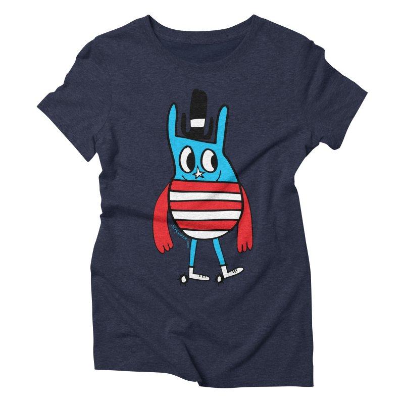 American Doodle Women's Triblend T-shirt by Jon Burgerman's Artist Shop