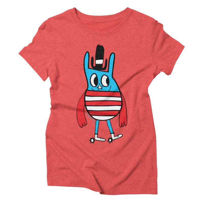 American Doodle Women's Triblend T-Shirt by Jon Burgerman's Artist Shop