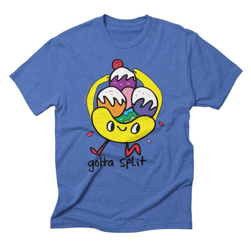 Gotta Split Men's Triblend T-Shirt by Jon Burgerman's Artist Shop