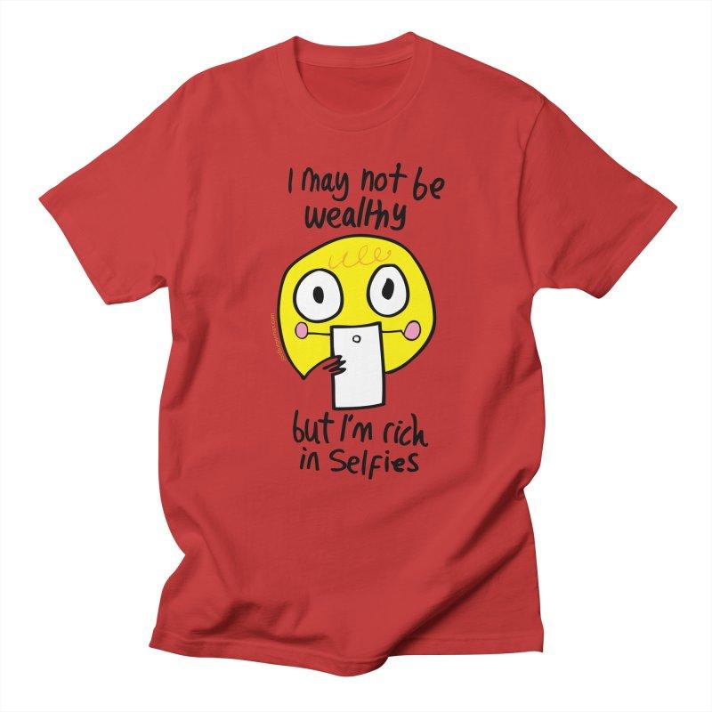 Rich in Selfies Men's Regular T-Shirt by Jon Burgerman's Artist Shop