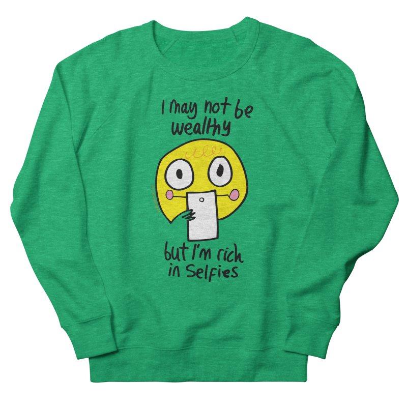 Rich in Selfies Women's Sweatshirt by Jon Burgerman's Artist Shop