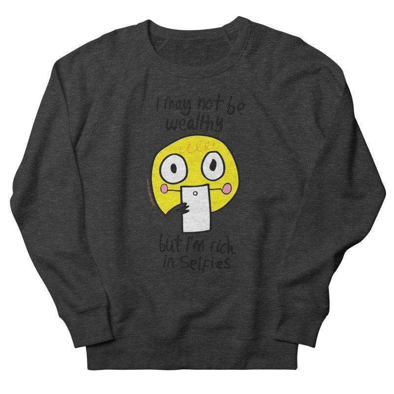 Rich in Selfies Men's French Terry Sweatshirt by Jon Burgerman's Artist Shop