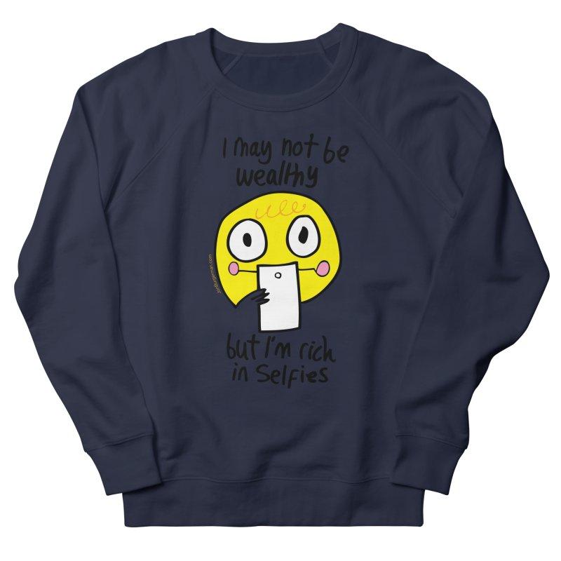 Rich in Selfies Men's Sweatshirt by Jon Burgerman's Artist Shop
