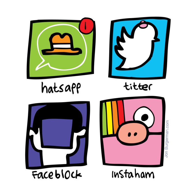 Instaham by Jon Burgerman's Artist Shop