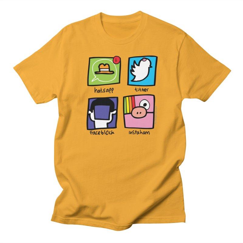 Instaham Men's Regular T-Shirt by Jon Burgerman's Artist Shop