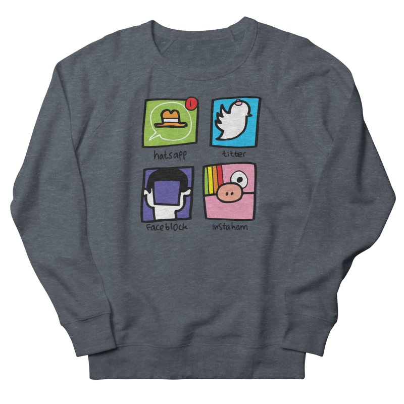Instaham Women's French Terry Sweatshirt by Jon Burgerman's Artist Shop