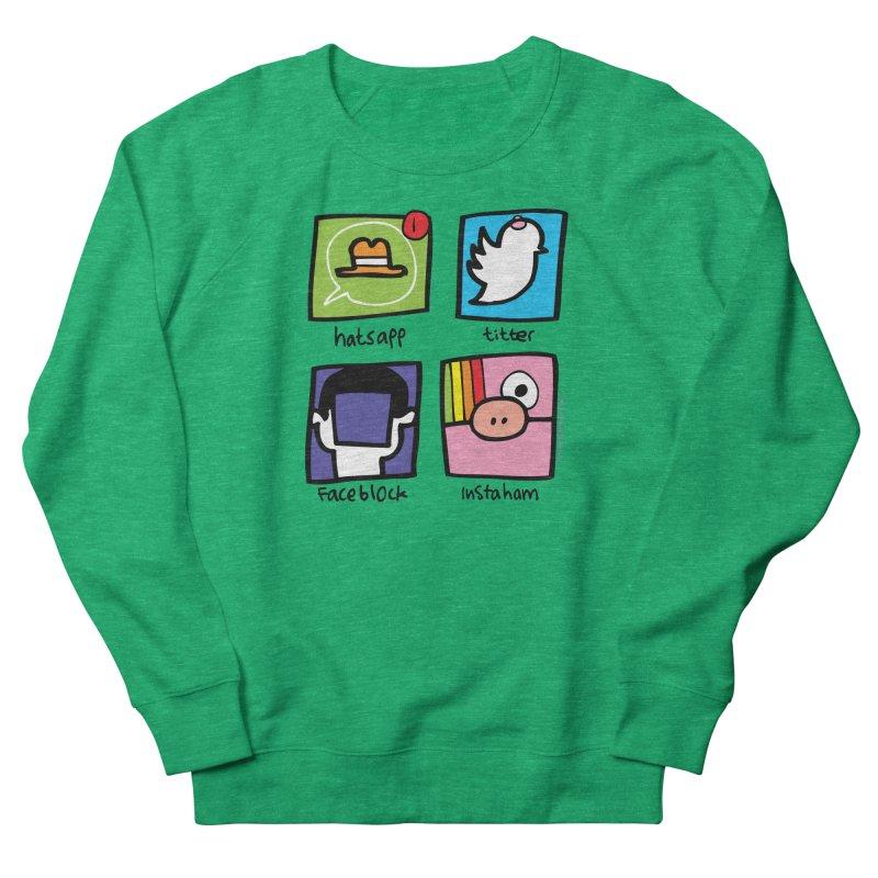 Instaham Men's French Terry Sweatshirt by Jon Burgerman's Artist Shop