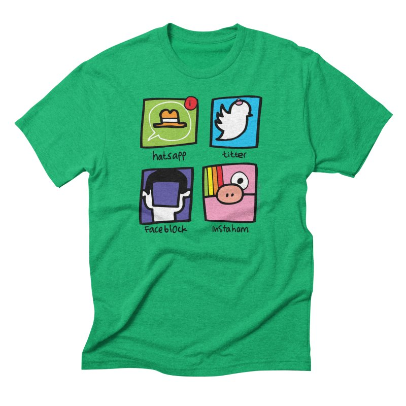 Instaham Men's Triblend T-Shirt by Jon Burgerman's Artist Shop