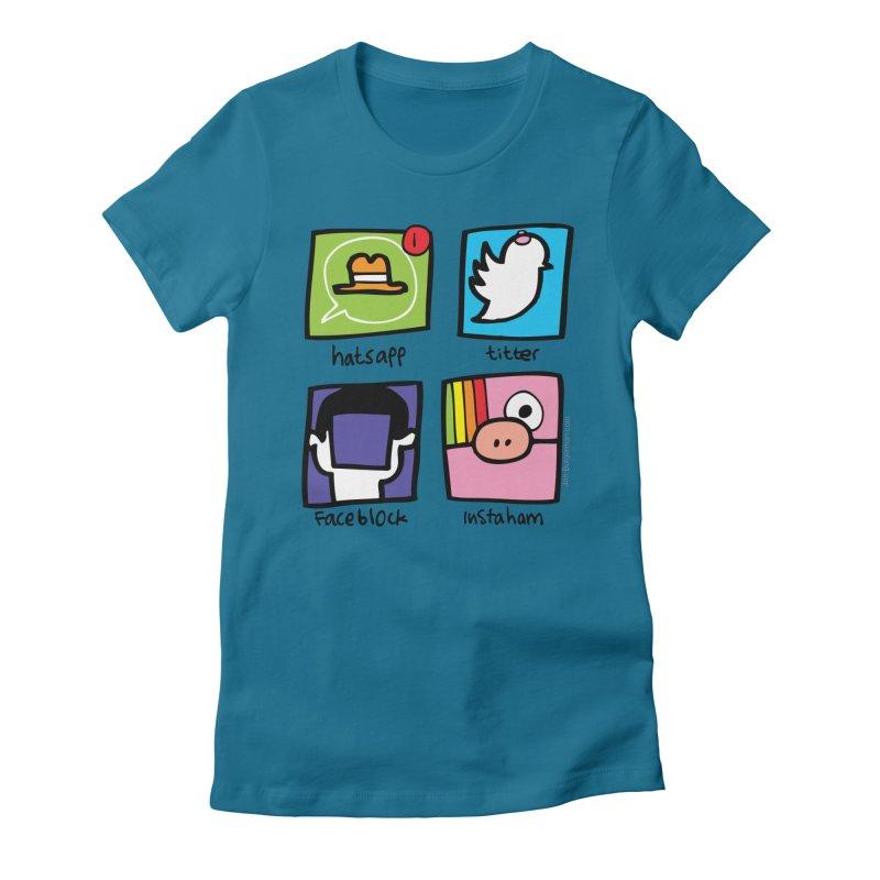 Instaham Women's Fitted T-Shirt by Jon Burgerman's Artist Shop