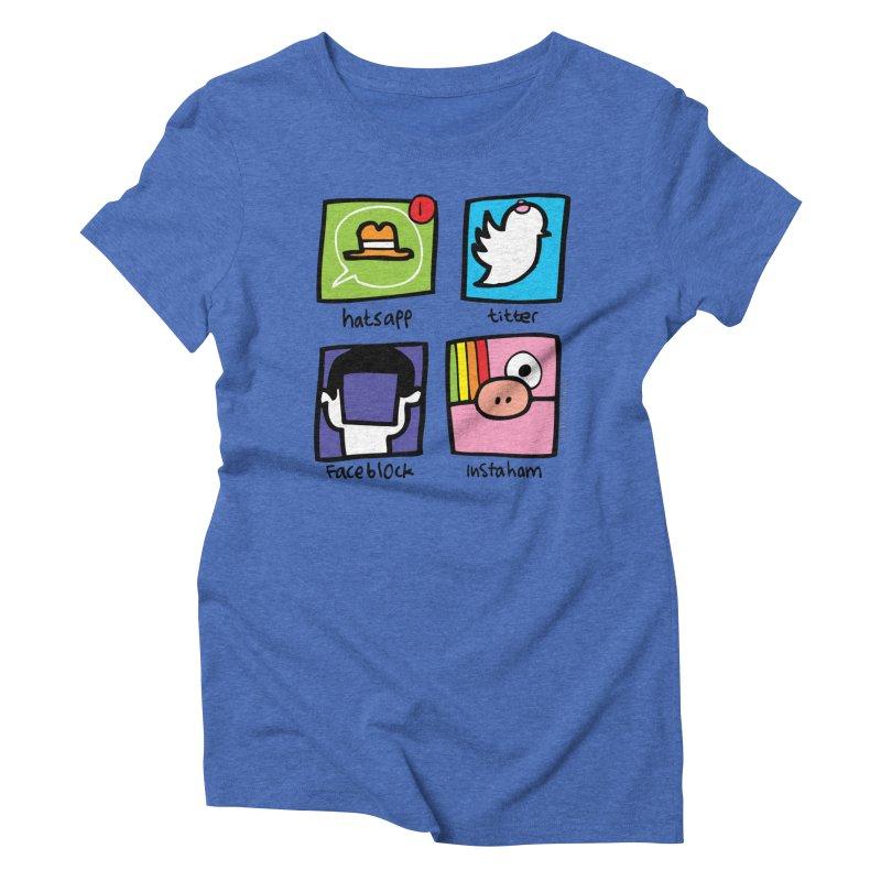 Instaham Women's Triblend T-Shirt by Jon Burgerman's Artist Shop