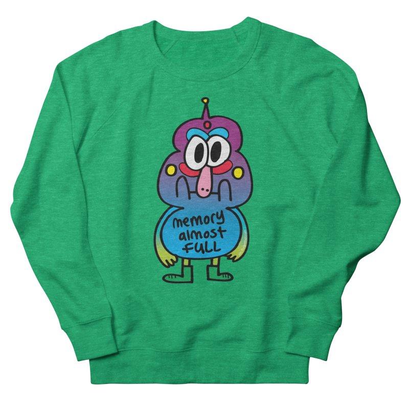 Memory Almost Full Women's French Terry Sweatshirt by Jon Burgerman's Artist Shop