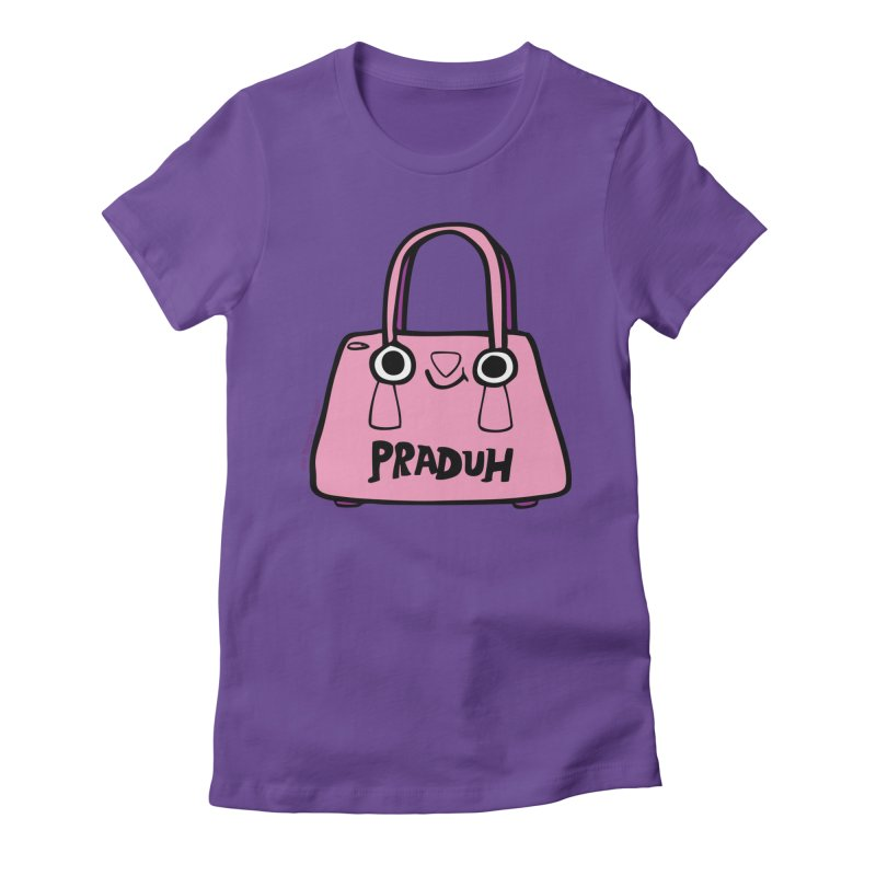 Praduh Women's Fitted T-Shirt by Jon Burgerman's Artist Shop