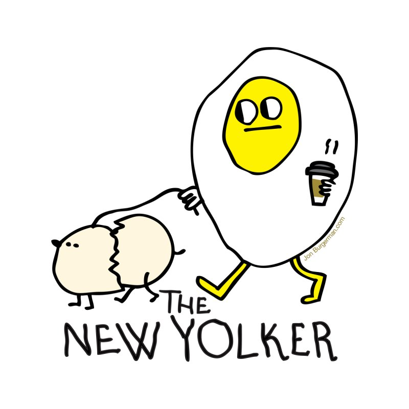The New Yolker Men's T-Shirt by Jon Burgerman's Artist Shop
