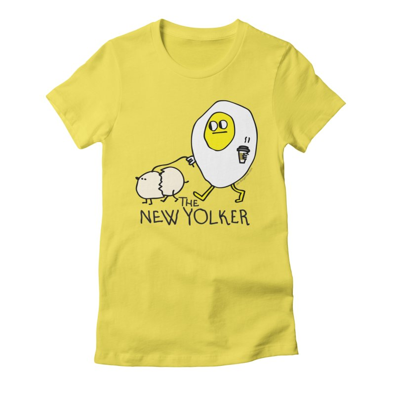 The New Yolker Women's Fitted T-Shirt by Jon Burgerman's Artist Shop