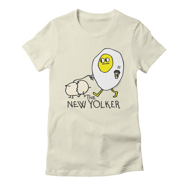 The New Yolker Women's Fitted T-Shirt by Jon Burgerman's Artist Shop