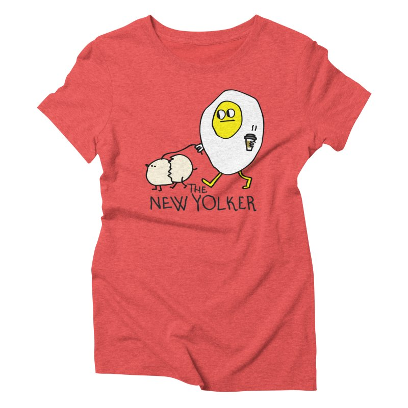 The New Yolker Women's Triblend T-Shirt by Jon Burgerman's Artist Shop
