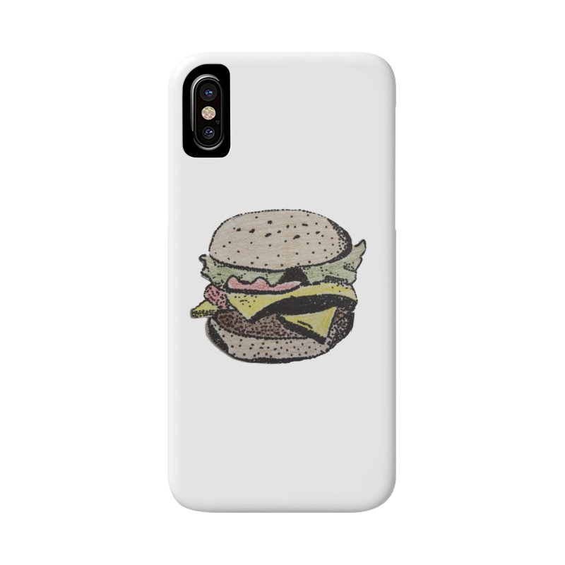 pointillism burger Accessories Phone Case by burgers on t-shirts.
