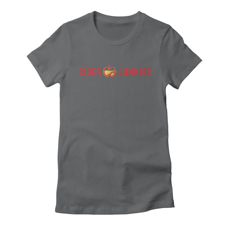 #ciderjunkies logo Women's Fitted T-Shirt by burgers on t-shirts.