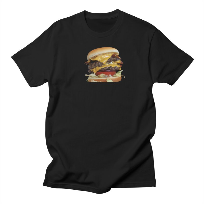 burger city. in Men's T-shirt Black by burgers on t-shirts.