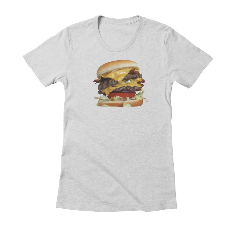 burger city. Women's Fitted T-Shirt by burgers on t-shirts.