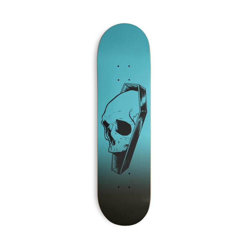 Coffin Skull Accessories Deck Only Skateboard by Ben Licata's Artist Shop