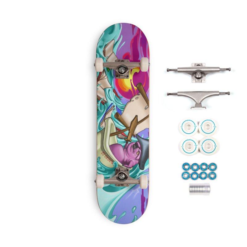 Mural-Skateboard Accessories Complete - Basic Skateboard by Ben Licata's Artist Shop