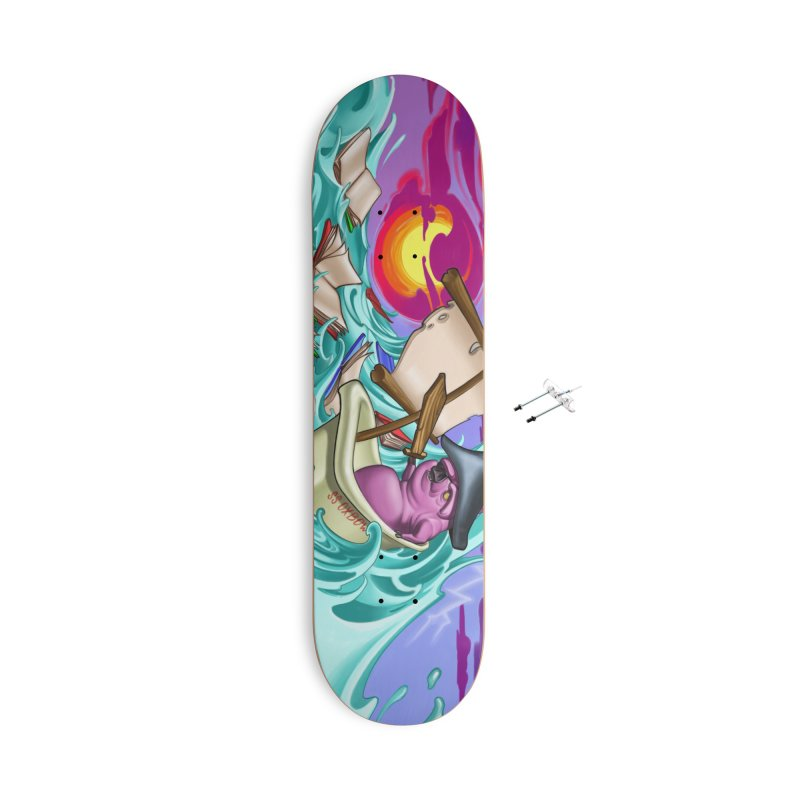 Mural-Skateboard Accessories With Hanging Hardware Skateboard by Ben Licata's Artist Shop