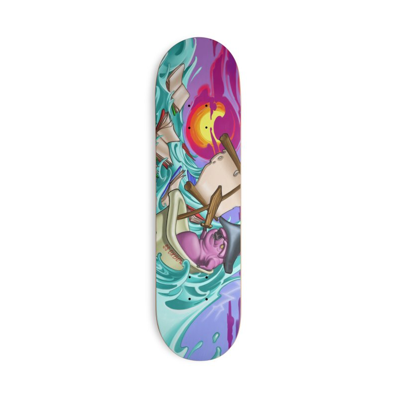Mural-Skateboard Accessories Deck Only Skateboard by Ben Licata's Artist Shop