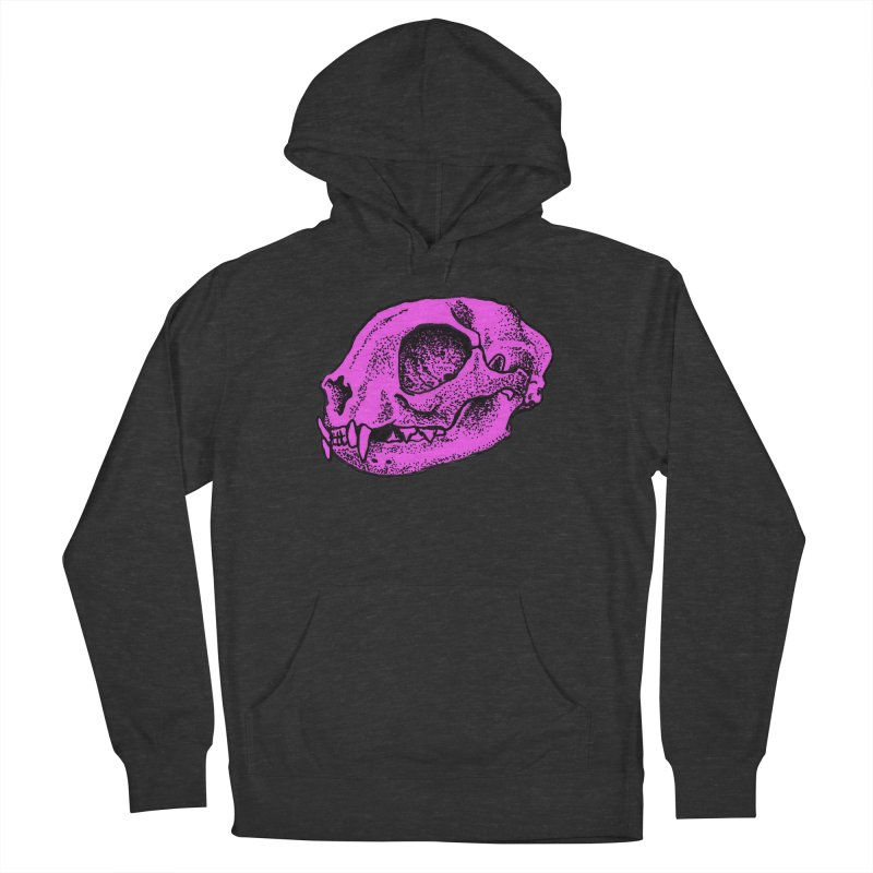 Pink Kitty Skull in Women's Pullover Hoody Smoke by Ben Licata's Artist Shop