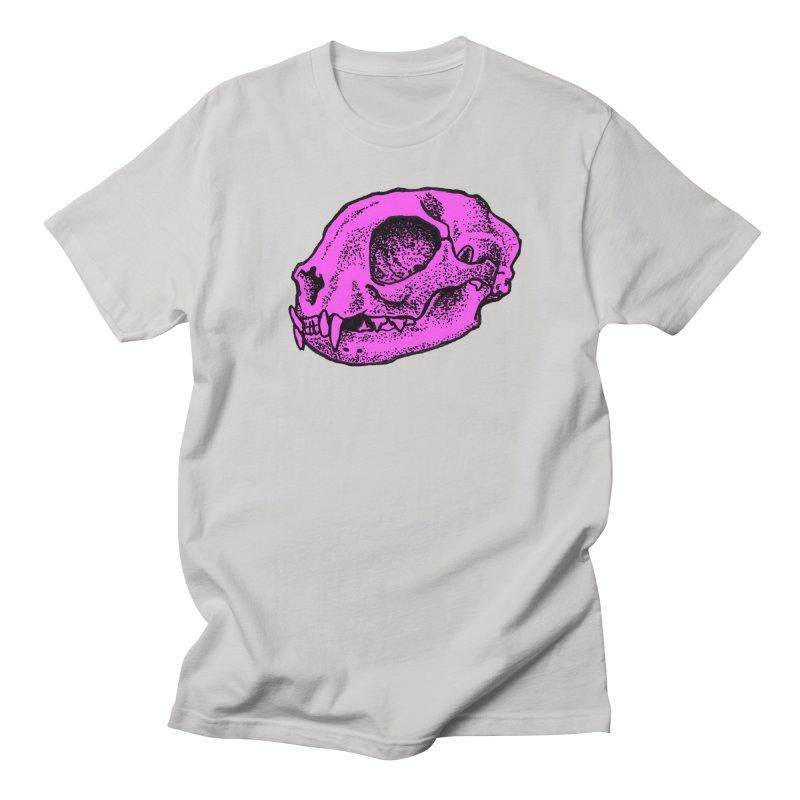 Pink Kitty Skull Men's T-shirt by Ben Licata's Artist Shop