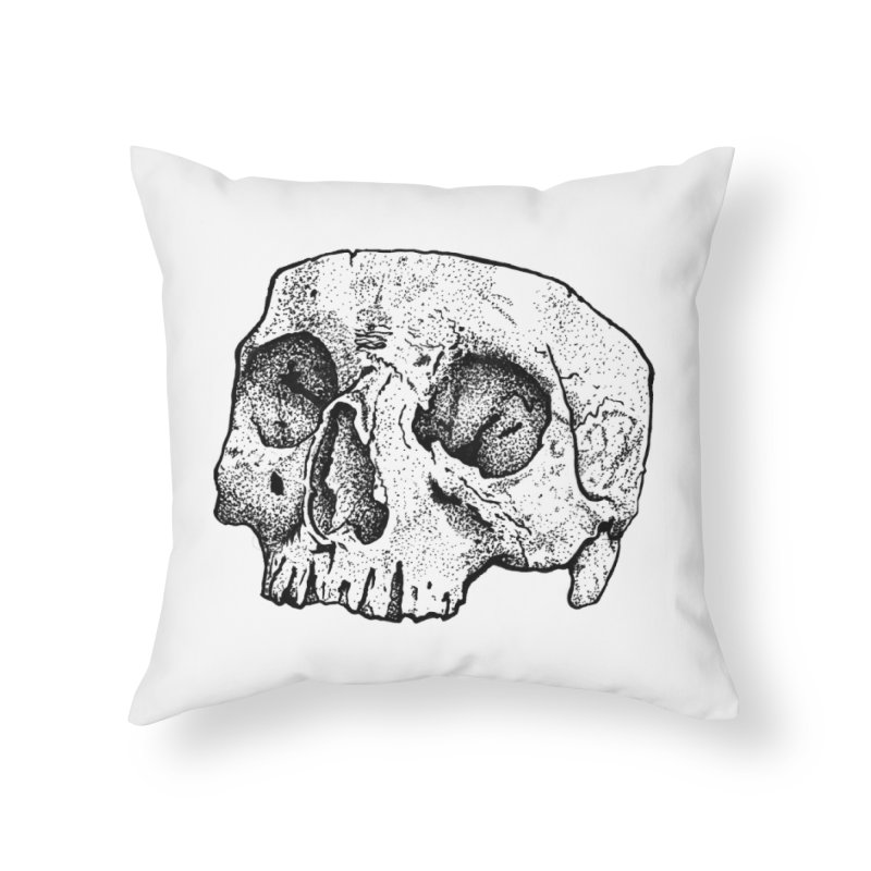 Cut Skull Home Throw Pillow by Ben Licata's Artist Shop