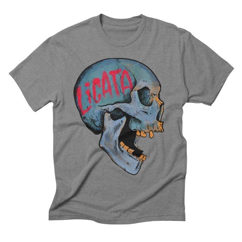 Blue Skull Men's T-Shirt by Ben Licata's Artist Shop