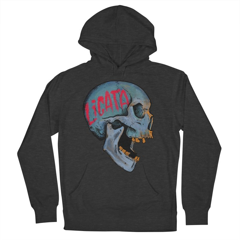 Blue Skull Men's Pullover Hoody by Ben Licata's Artist Shop