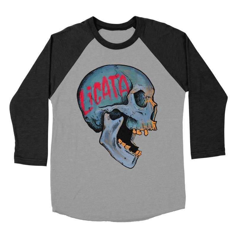 Blue Skull Men's Longsleeve T-Shirt by Ben Licata's Artist Shop