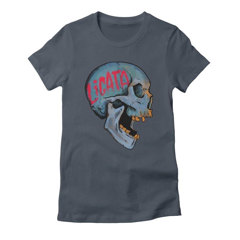 Blue Skull Women's T-Shirt by Ben Licata's Artist Shop