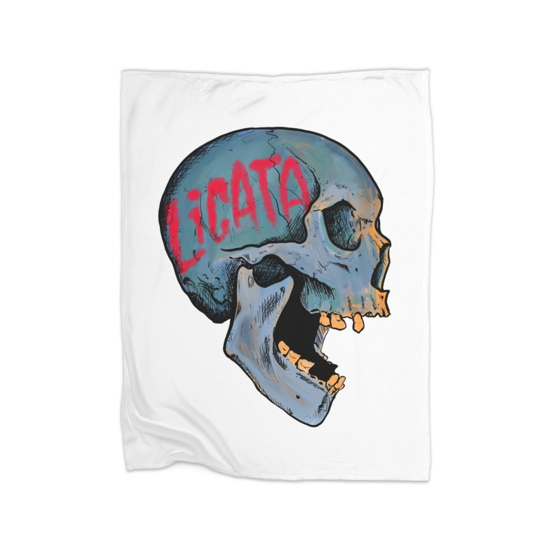 Blue Skull Home Blanket by Ben Licata's Artist Shop