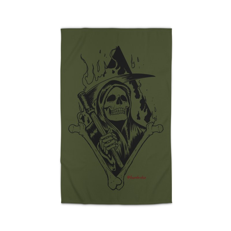 Flaming Reaper Home Rug by Ben Licata's Artist Shop