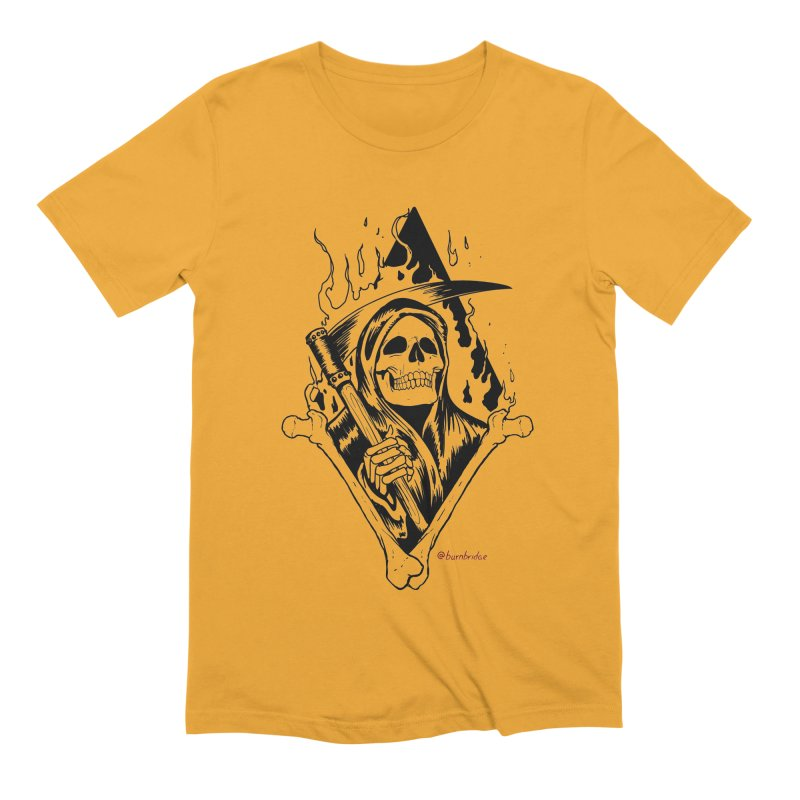 Flaming Reaper Men's Extra Soft T-Shirt by Ben Licata's Artist Shop