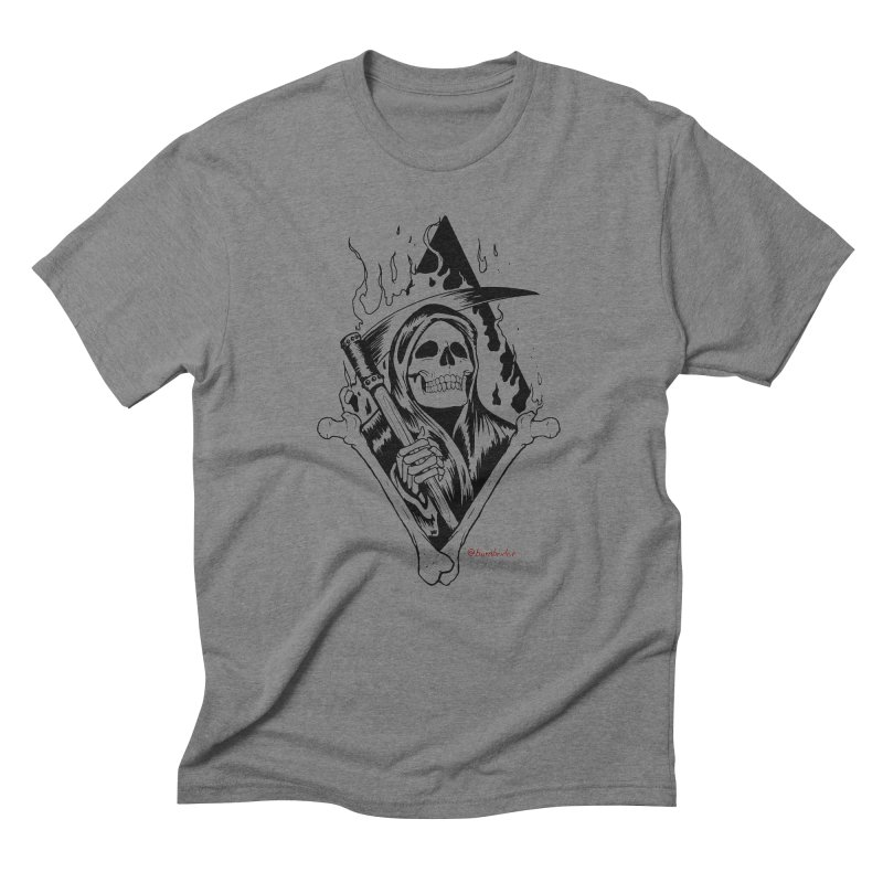 Flaming Reaper Men's T-Shirt by Ben Licata's Artist Shop